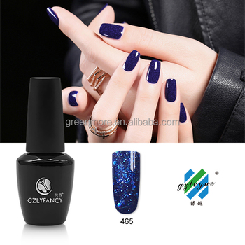 GZLYFANCY UV/ LED gel with shinning sequins soak off nail gel polish 68 colors