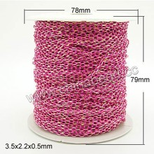 Wholesale chains magenta rose color jewelry chain for jewellery making