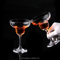 Wide mouth crystal wine glass goblet,cocktail Wedding glass champagne Flute Margarita glass