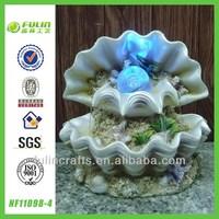 Artificial Fountain Decoration Resin Sea Shell