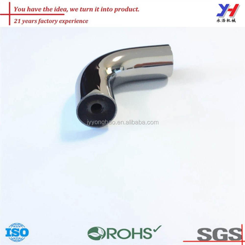 OEM ODM customized pipe fitting 90 degree aluminum elbow bending parts