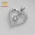 CP05724 caheer beautiful women jewelry heart shaped rhodium color pendant