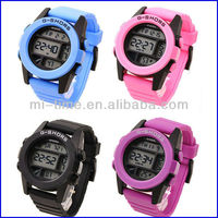 Fashionable sport style silicone digital g shors watch