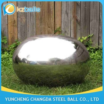 decorative oval 400 500 600mm ellipse stainless steel ball sphere