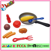 Lucky audit factory Plastic kitchen playset kids pretend food stall Children cooking play food toys