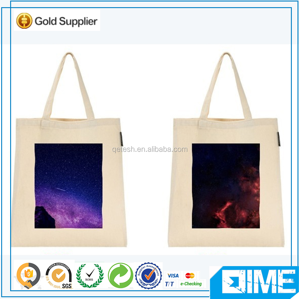 Durable Printed Fashion Cotton Canvas Tote Bag For Online Shopping