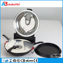 Anbo New portable high quality multifunction electric pizza oven/pizza pan/pizza maker Stainless steel pizza cone maker