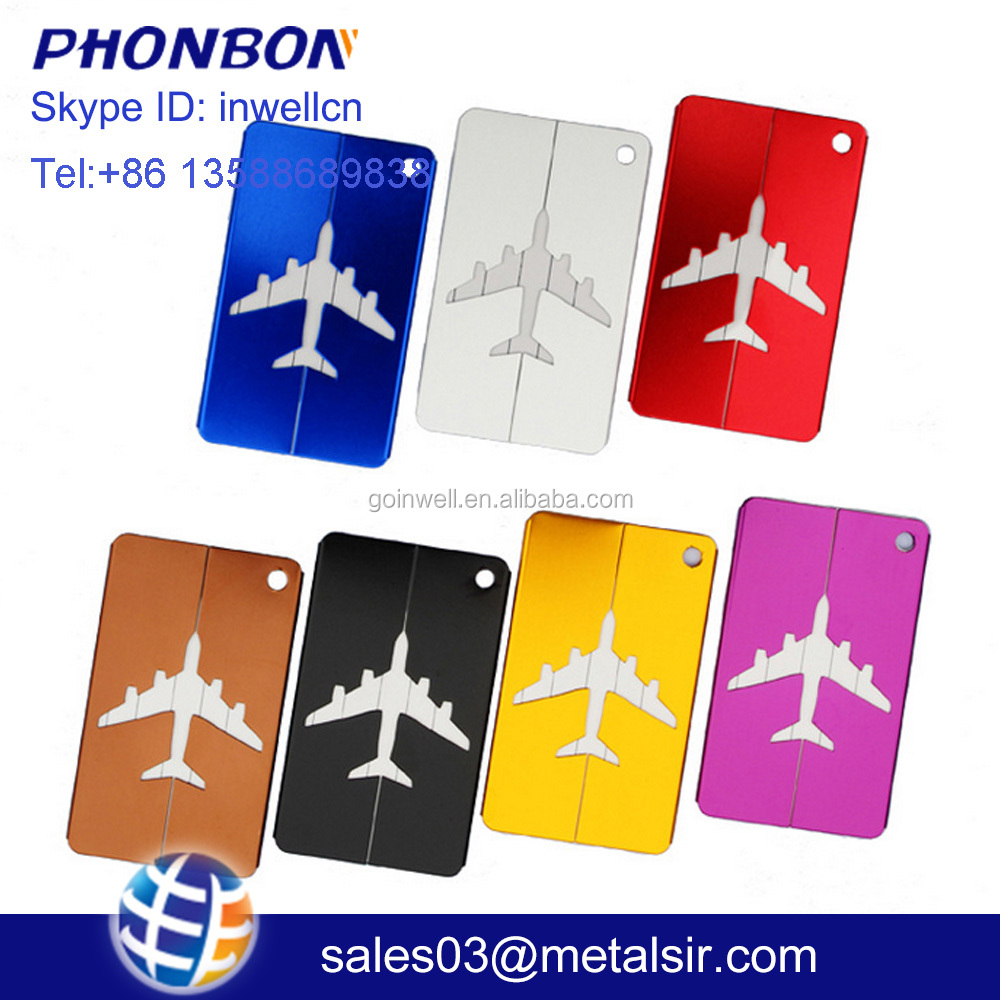Aluminium alloy luggage tag, custom-made logo tag, recognized travel luggage tag