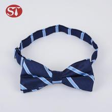 Hot sale promotional novelty neck pre-made stripe high quality mini bow ties
