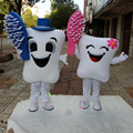 Hola tooth mascot costume/couple mascot costume for sale