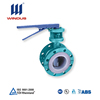 reasonable price cast iron handle operation flange connection 10 inch butterfly valve