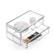 durability china manufacturer acrylic makeup organizer clear box cosmetic cases