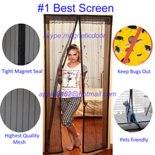 Premium magnetic mesh curtain insect screen