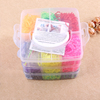 5100pcs loom bands little 3 layers pvc box rubber band