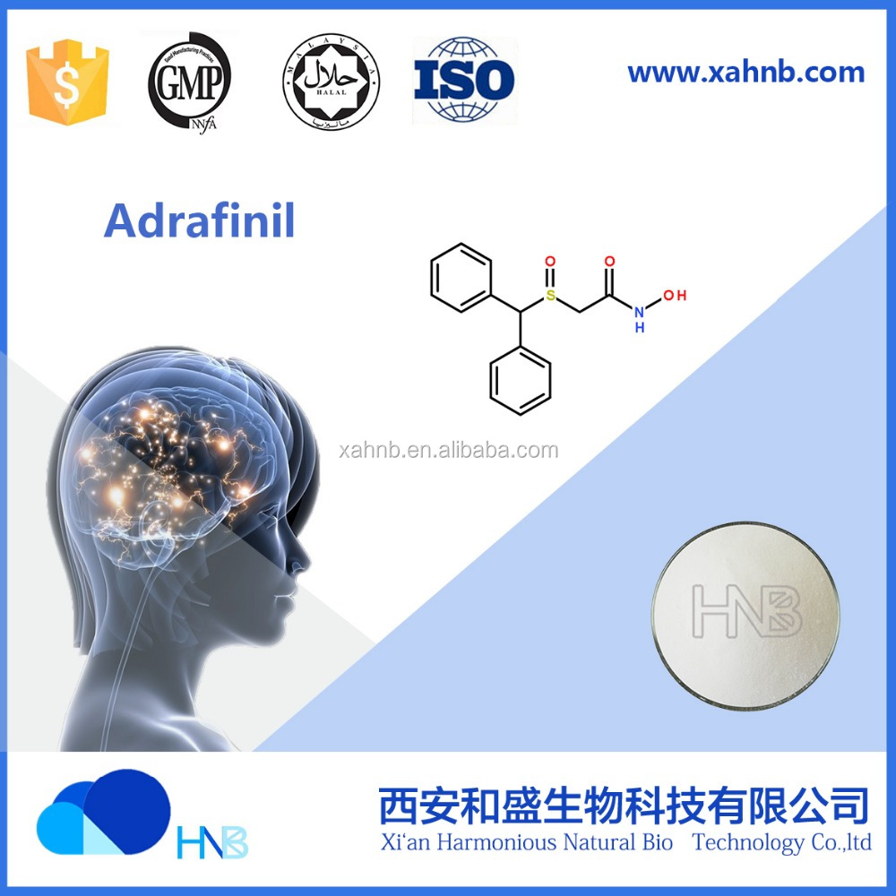 Adrafinil CAS No.: 63547-13-7 (white crystal powder pure purity of 99% directly from factory ) STOCK GOODS!