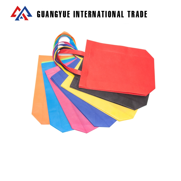 Guangyue Wholesale Online Shopping 70GSM Reusable Custom Printed Personalised PP Non Woven Tote Bags