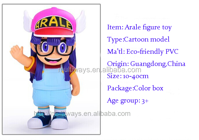 10 years OEM factory Custom PVC anime girl doll toy, Arale cartoon action figure toy, Arale nude girl figure toys