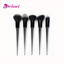 Transparent conical handle Foundation Powder Blusher Shadow Contour Makeup brush 5pcs Face Brush sets