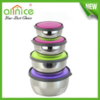 Pretty stainless steel storage box with lid /4pcs airtight food container /airtight lunch box
