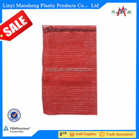 50 * 80 red onion PP mesh bag for fruits and vegetable package leno mesh onion bag