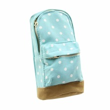 Fashion Mini School Bag Pen Case Student's Canvas Pencil Case Children Pen Bag