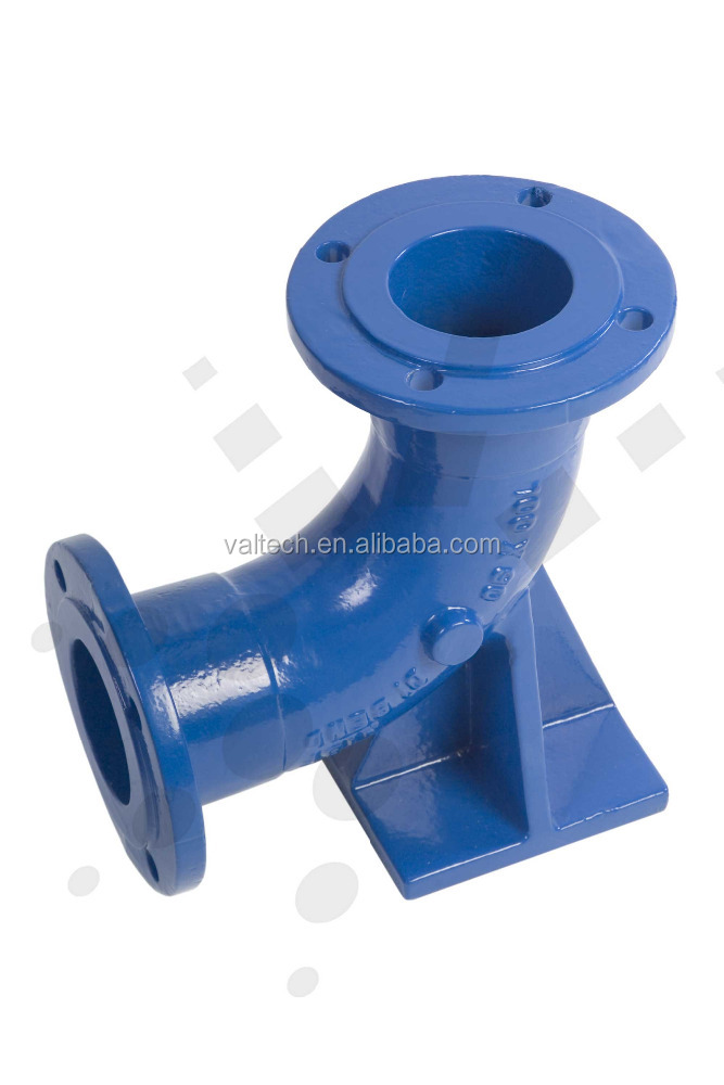 ISO2531 Potable Waterworks Pipelines Ductile Iron double flanged duckfoot equal elbow bend