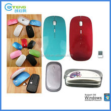Ultra Slim 2.4G Corporate Gift Wireless Mouse With Company Logo Printing