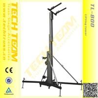 sound system , tower crane , line array speaker tower