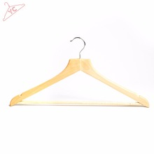 Extra-wide Non-slip Shoulder , Sturdy and Durable Suit Pants Clothes Hangers , Natural Finish