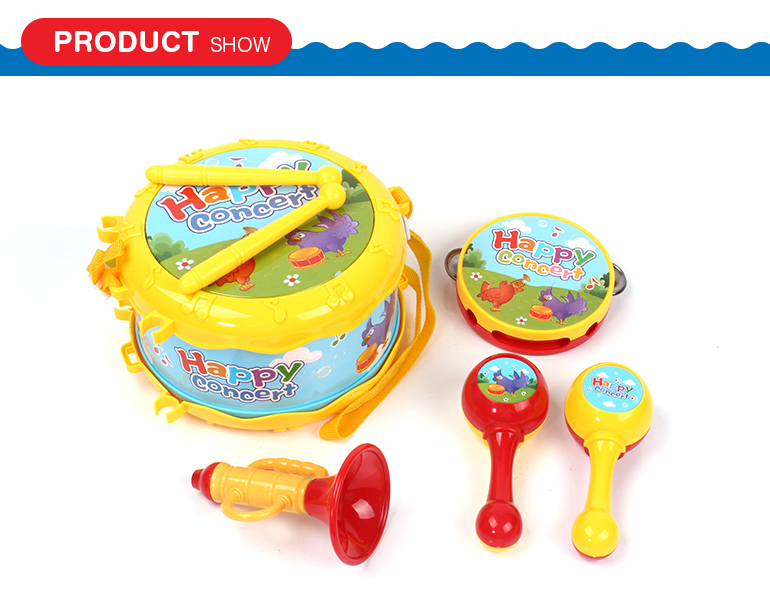 Happy concert educational plastic toy miniature musical instruments for kids