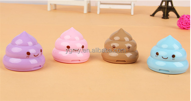 Korea Stationery Shit pencil sharpener Shape Double Orifice Double Pole Piece Office & School Supplies