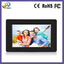 L type digital display 16:9 digital screen frames support clander clock alarm 1/2/4/8 GB memory flash auto on