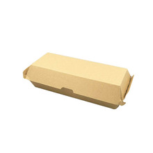 disposable cheap logo printed 8inch paper hamburger boxes