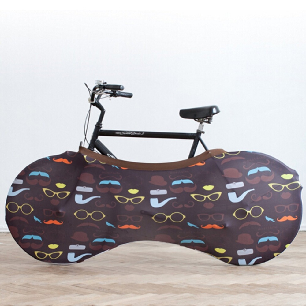 Full Printing Bike Indoor Dust proof Soft Polyester Bicycle Wheel Covers
