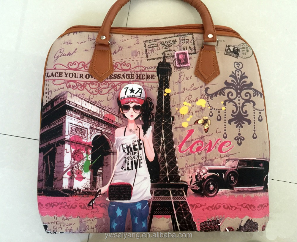 Sy407 Wholesale Paris Pu Handbag,High Quality Leather Handbag,Village Souvenir Handbag