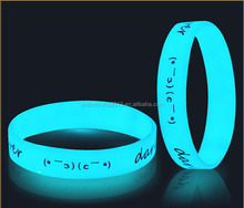 2017 personality fluorescent wrist bands silicone rubber glow in the dark
