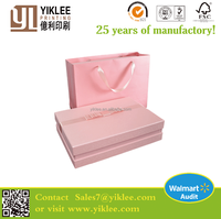 Professional OEM customized Art Paper Paper Type and Accept Custom Order Wedding Invitation Silk Boxes