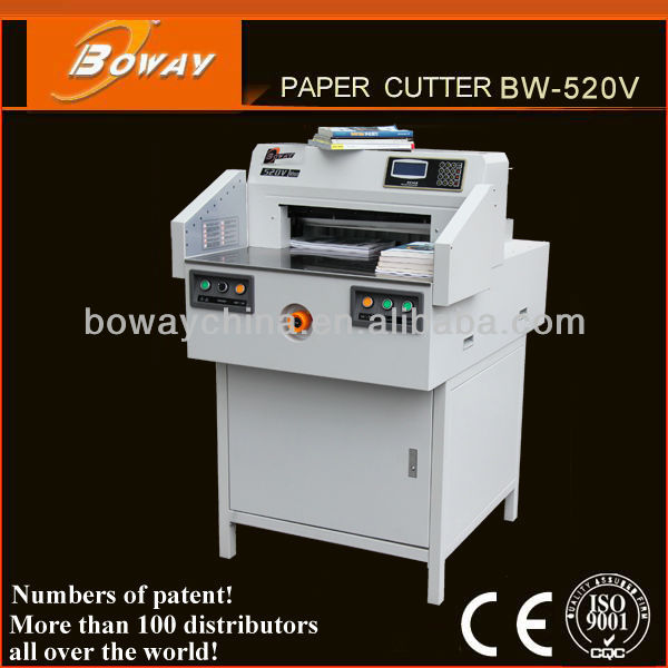 CE ISO Supplier Boway 520mm Electrical Programmed Non second hand paper cutting machine