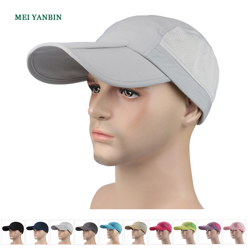 BH wholesale folding cool mesh patch running sports baseball hat