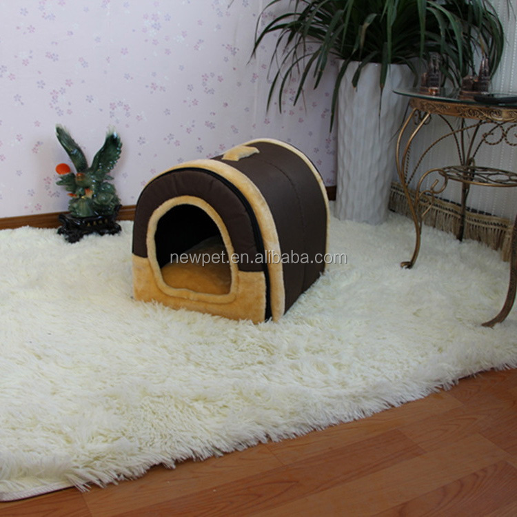 In many styles direct sale retro style round pet house fabric dog house folding