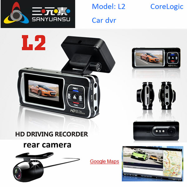 china 2.7 inches post virtual camera Car Black Box Lane departure warning system car dvr gps track in google maps L2 cctv camera