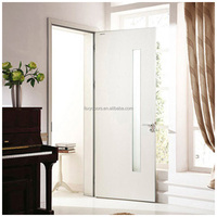 Top quality elegant white colors glass insert wood interior door