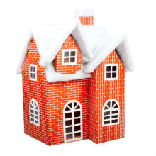 Christmas decorations, Christmas supermarkets, shopping malls layout paper foam snow snow house decoration