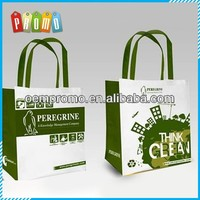 Customized Laminated pp woven shopping bag with logos