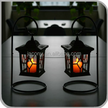 solar candle lantern for table patio (JL-8567)