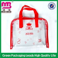 decent quality printed jute cosmetic bag with clear pvc window