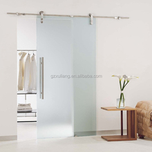 Frameless sliding door manufacture interior doors with glass inserts