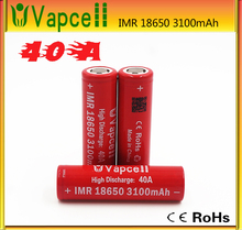 In stock Authentic rechargeable battery for 40A 3.7v Vapcell 18650 vapcell imr 3100mAh mod 18650 batteries