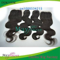 5A good quality virgin Brazilan body wave hair weaves 2-5bundles with lace front closure pieces bleached knots stock