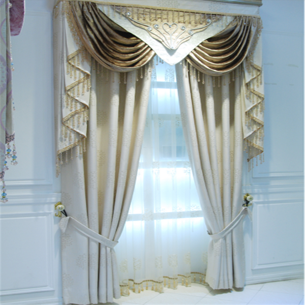 Blackout curtain with luxury valance hookless curtain